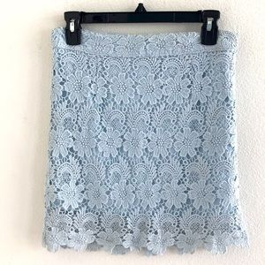 Elie Tahari Regina Skirt Light Blue Crochet Size 4